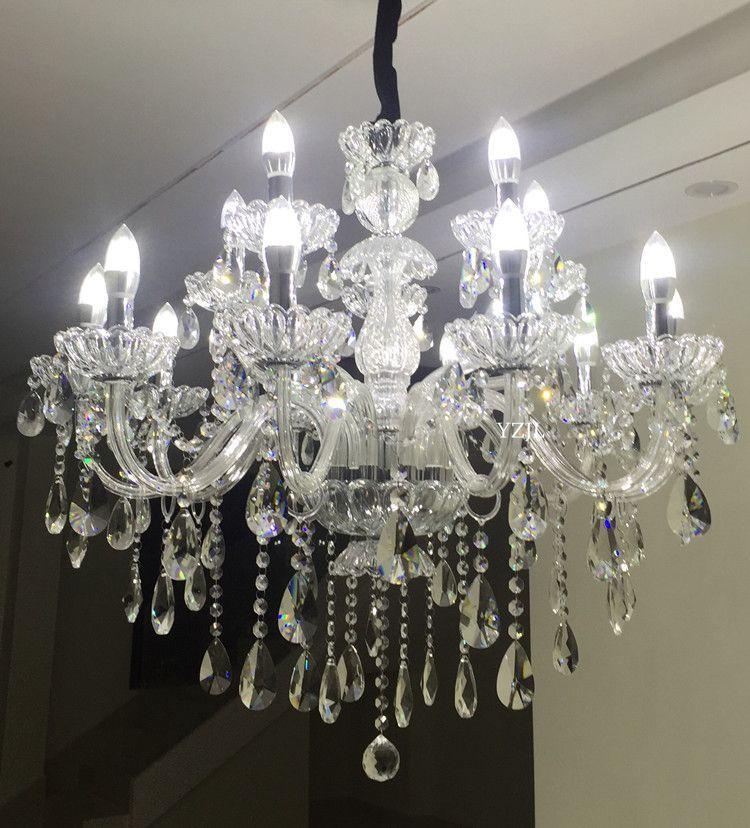 Crystal light chandelier crystal light modern minimalist living room bedroom dining room LED chandelier crystal simple luxury