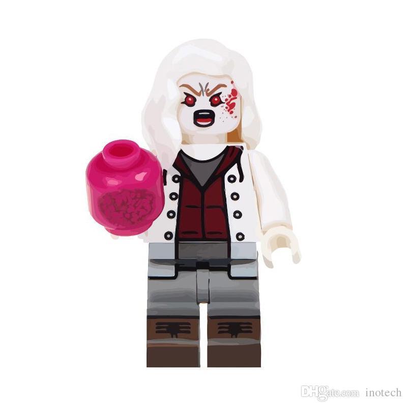 8Pcs Horror Theme Jason Scream Killer Freddy krueger lego Children toys kids