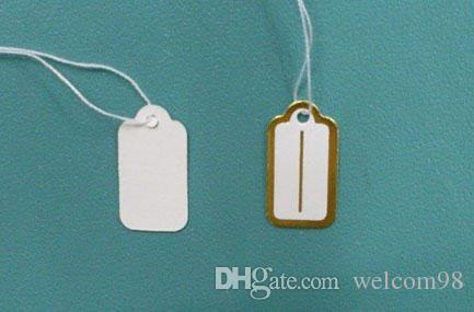 Free Shipping 500pcs/lot Label Tags Price Tags Card For Jewellery Gift Packaging Display 13mmX26mm LA6