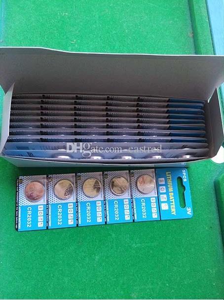 CR2032 2032 3v Lithium Knopfzellenbatterie Knopfzellen 5 Stück pro Blisterpackung, 1500 Stück (300 Karten) / Los
