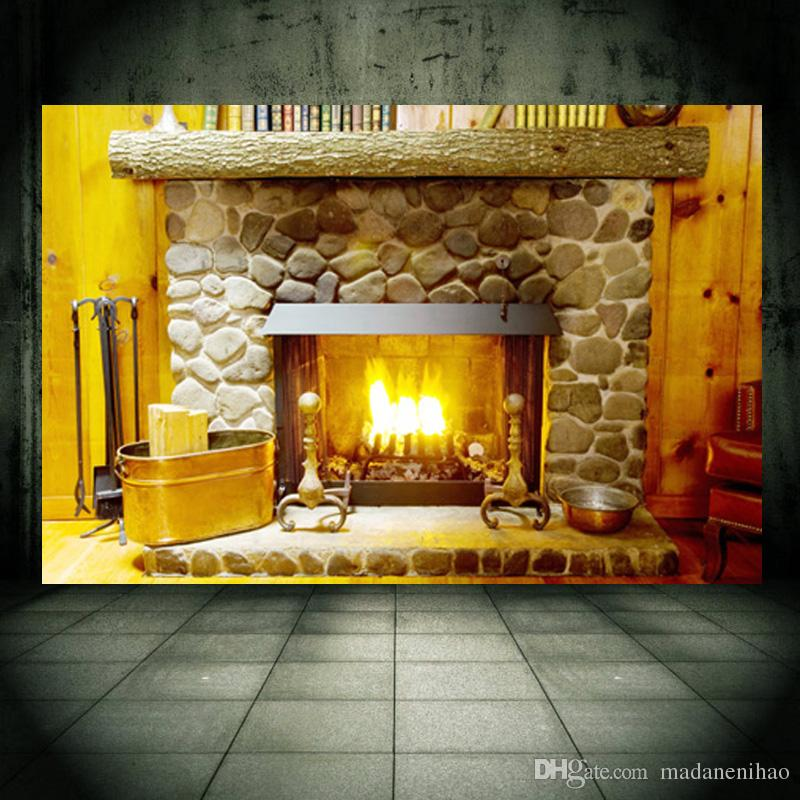 3d Wall Sticker Fireplace Furnace Pvc Removable Wall Decals Home ...