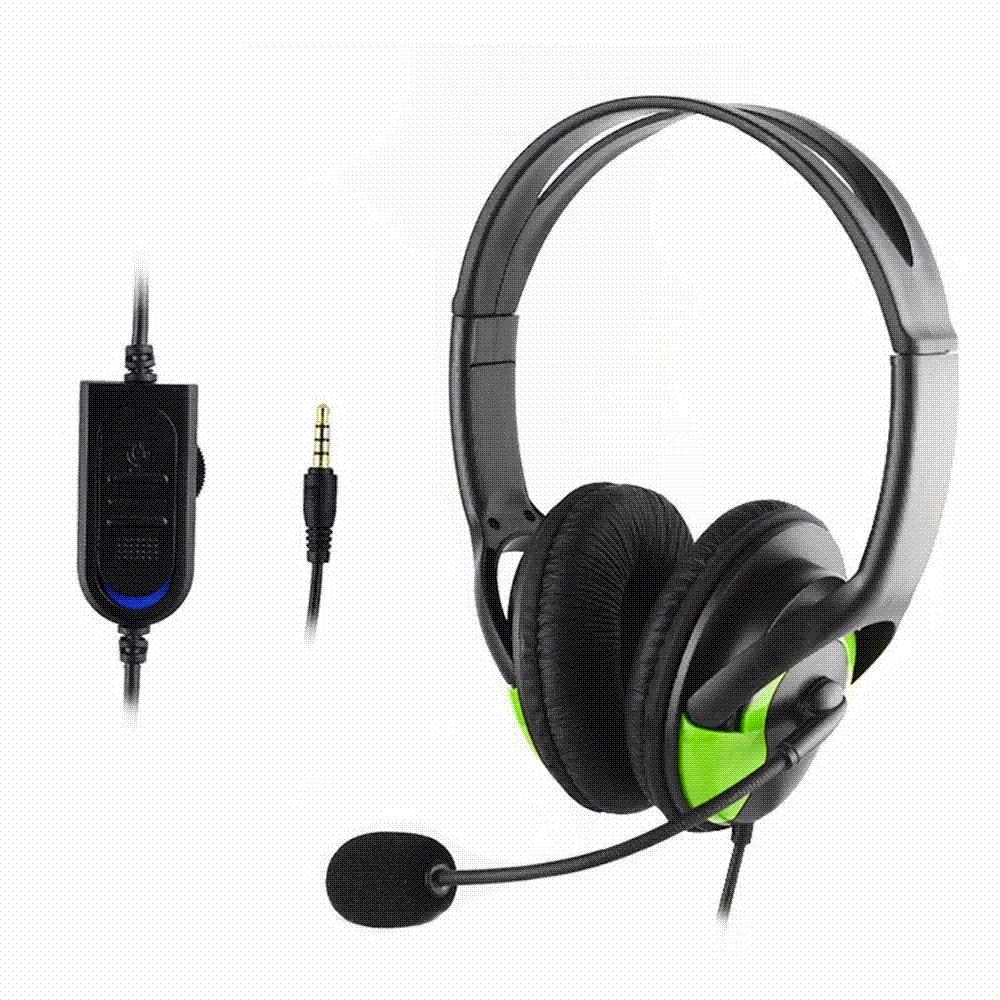 3.5mm Plug Wired Gaming Stereo Headset Headphone Earphone with Microphone / Voice Control for Sony PlayStation4 PS4 XBOX ONE