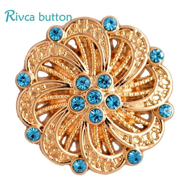 All'ingrosso D03311 Rivca oro pulsante a scatto 8 colori più nuovo strass 18mm argento antico placcatura con bottoni a pressione pulsante in pelle per le donne