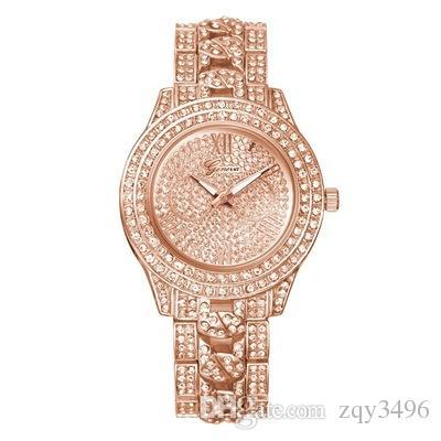 Fashion Trend Diamond Watches High-grade Alloy Geneva Set Auger Watches Men Women Luxury Watches 03