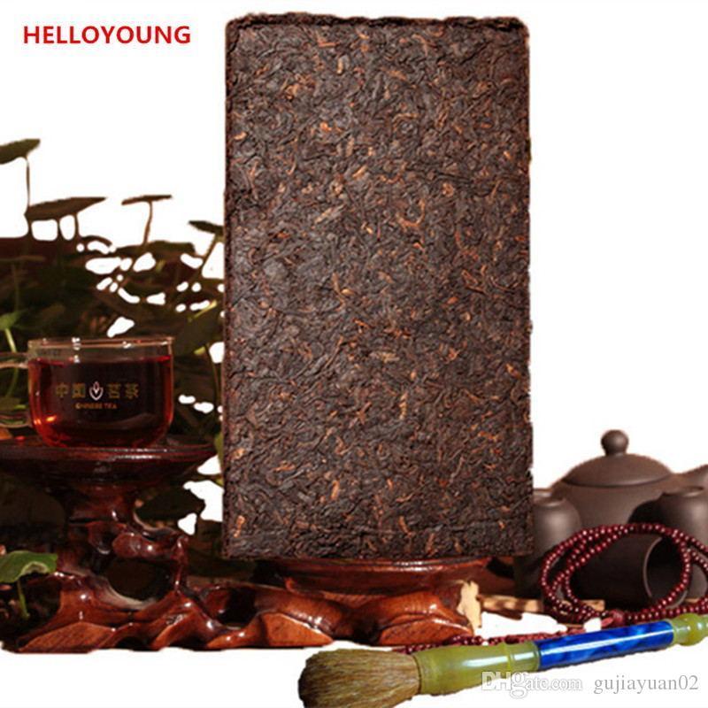 Продвижение 250g Юньнань High Grade Зрелый пуэр кирпича Крем Органические Природный чай Pu'er Старое дерево Приготовленный чай Pu'er Кирпич
