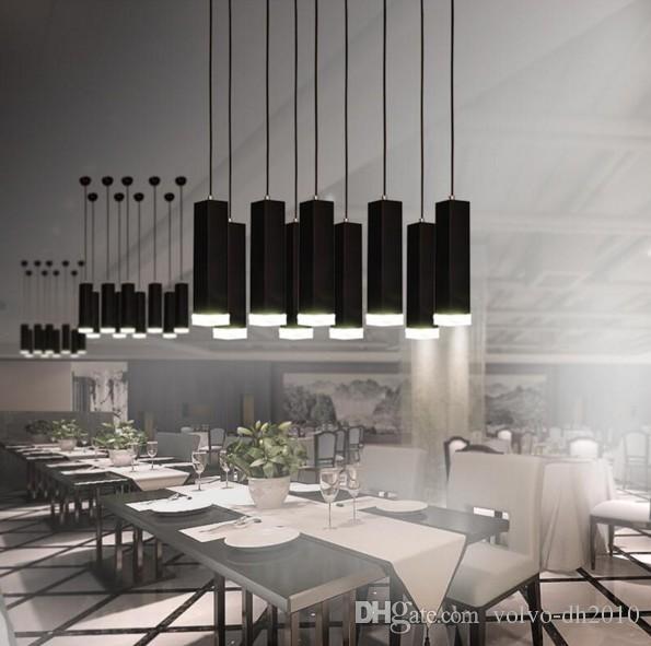 Modern Nordic Minimalism Black/White Aluminum Column Led 3W Pendant Light for Dining Room Living Room Bar LLFA