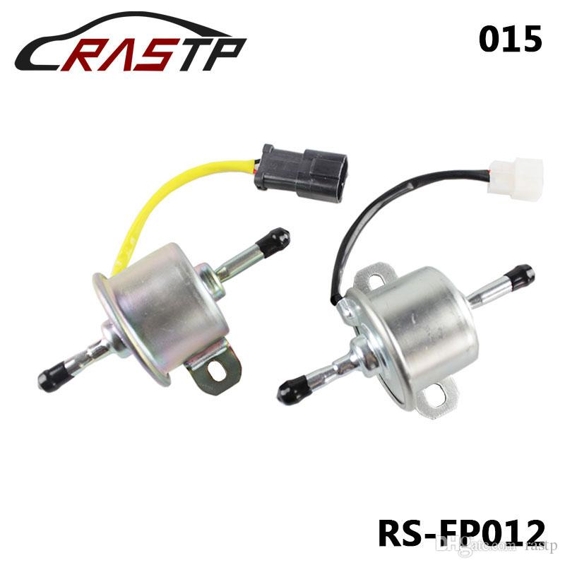 RASTP - 높은 품질 유니버설 12V HEP015 / HEP015 마이크로 전자 연료 펌프 정지 해제 압력 가스 디젤 인라인 낮은 대가 YANMAR LS-FP012의 경우