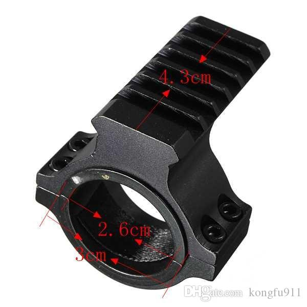 "Scope Mount 1"" / 25mm 30mm Ring Adapter with 20mm Weaver Picatinny Rail Hunting Tool Aluminum Alloy"