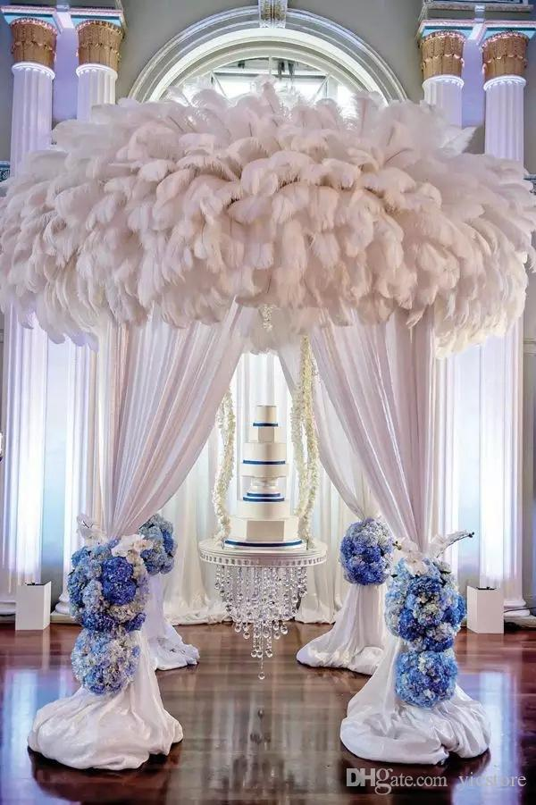 10-12inch(25-30cm) DIY Ostrich Feathers Plume Centerpiece for Wedding Party Table Decoration Wedding Decorations free shipping