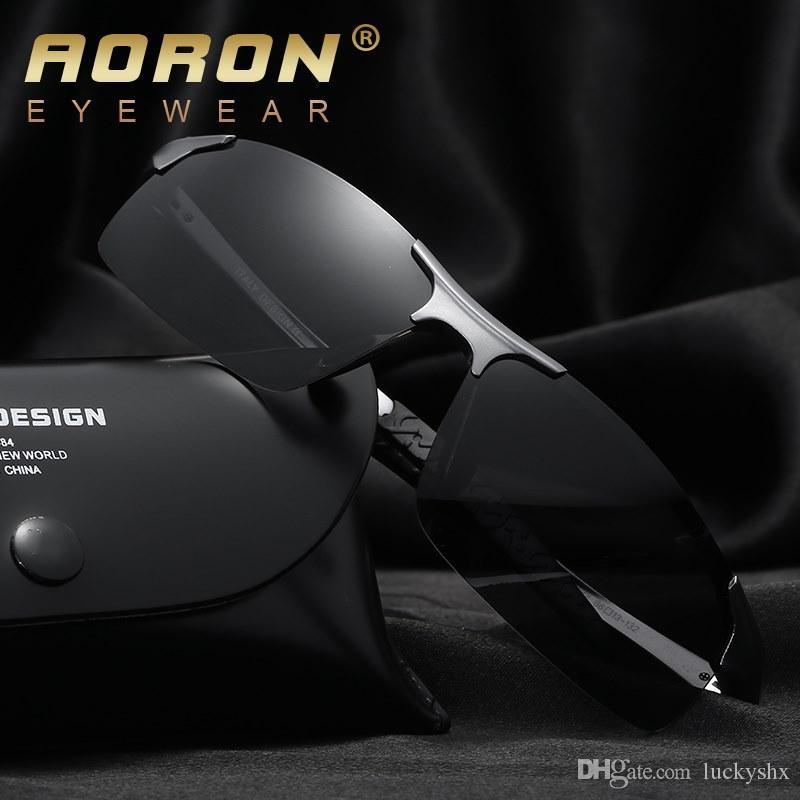 Mode luxe Hommes HD Marque Designer Conduite Lunettes de soleil polarisées Lunettes Lunettes Aluminium Magnésium oculos de sol Accessoires avec boîte