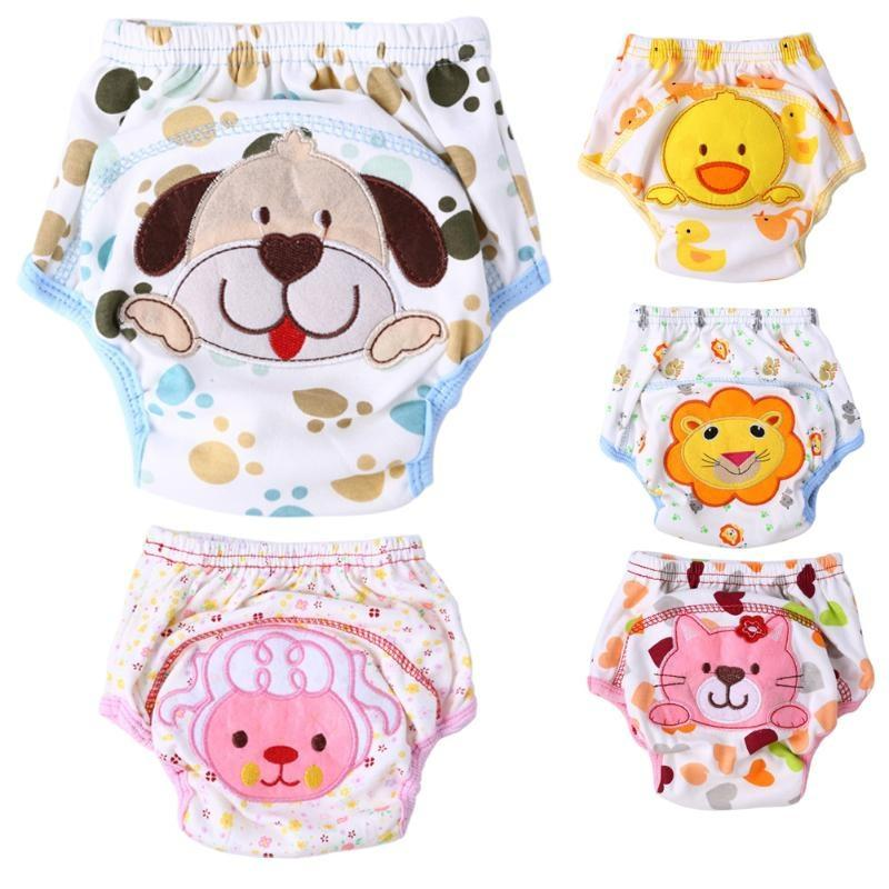 Lovely Unisex Cartoon Baby Training Soft Pants Baby Underwear Reusable Cloth Diapers