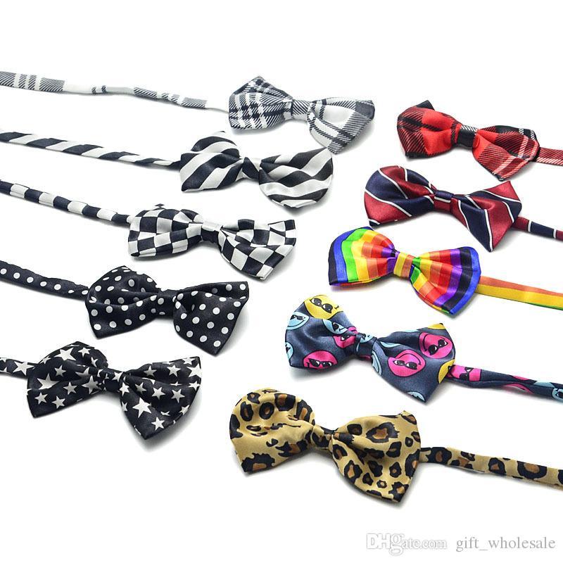 Mens Bowtie Bow Ties Pre-tied Adjustable Stripe Print Neck Bow Tie Fashion Accessories Free Shipping MOQ : 10 pcs