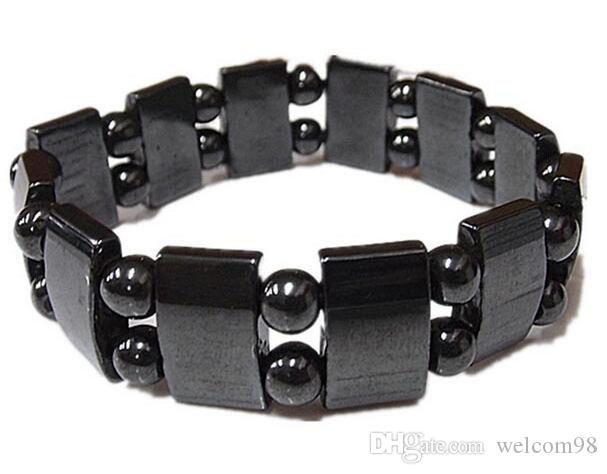 10pcs/Lot Black Magnetic Healthy Bracelets Beaded Strands 8inch For DIY Craft Fashion Jewelry Gift M22