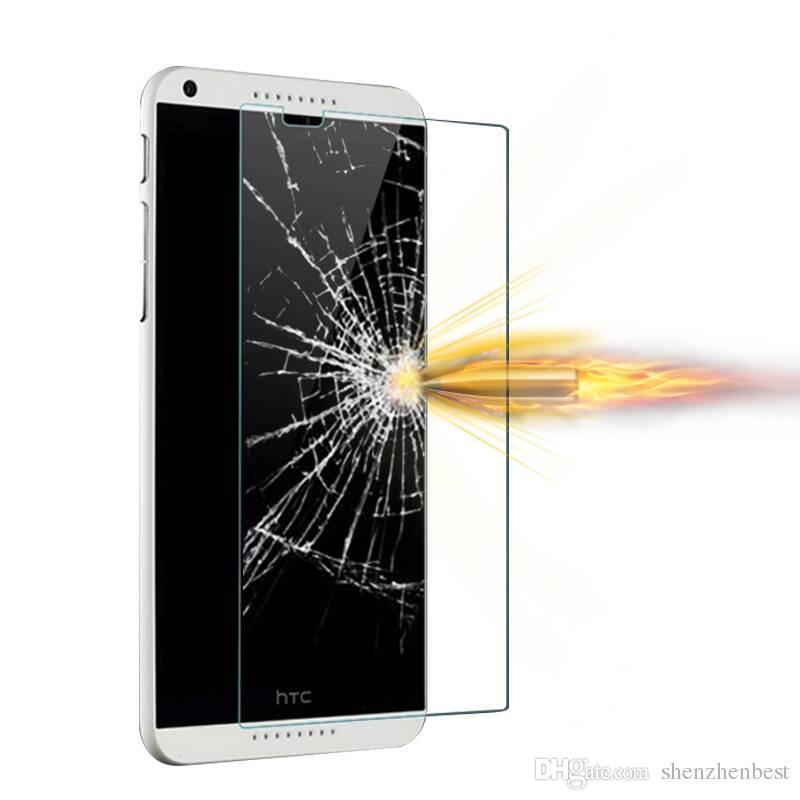 Le prix le plus bas Protecteur d'écran anti-déflagrant en verre trempé pour HTC D510 / D516 / D610 / D620 / D626 / D626S / D816 / D826 / D700 / D520 / A9 / 50pcs