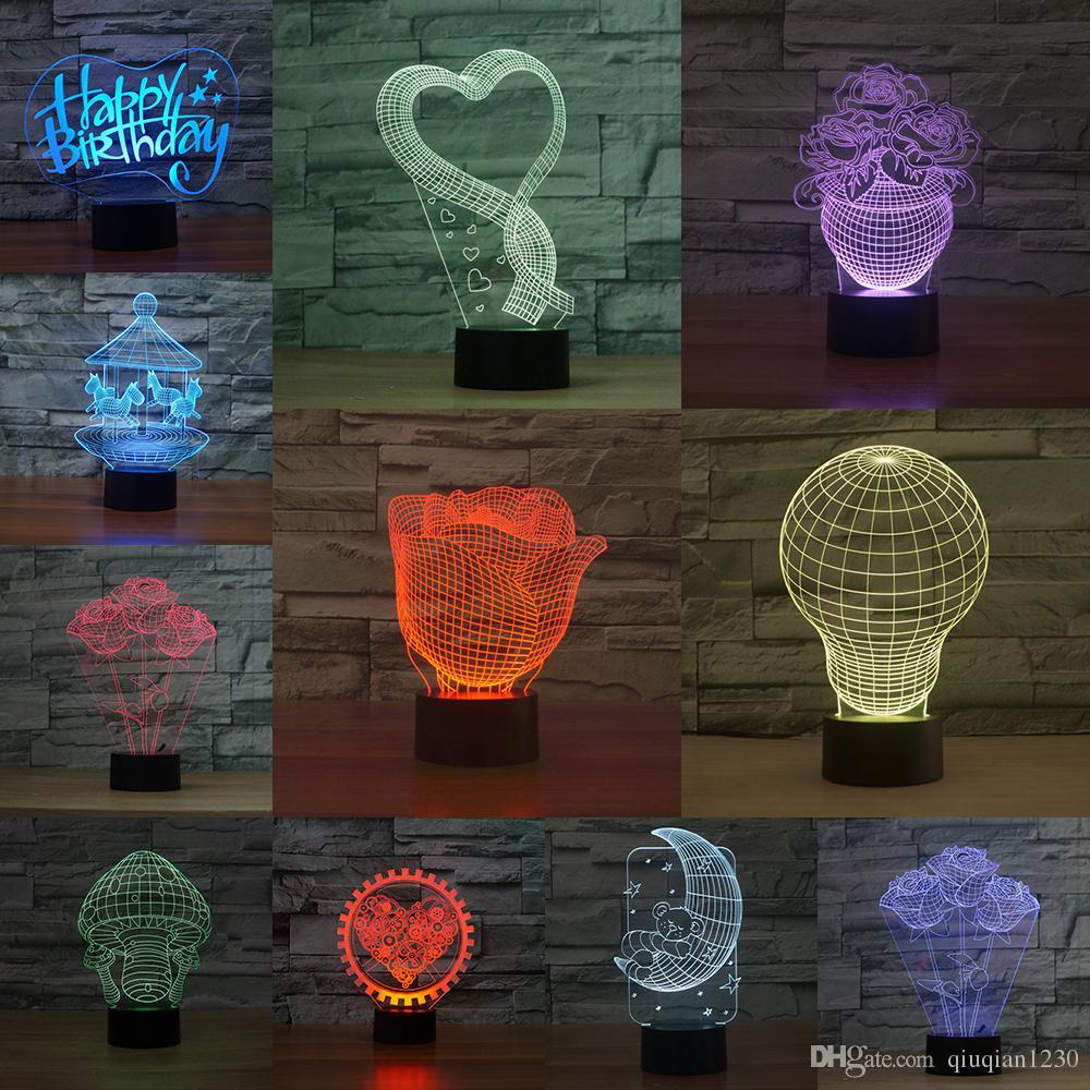 iluminacin creativa del usb d la luz de la noche llev la lmpara de escritorio de