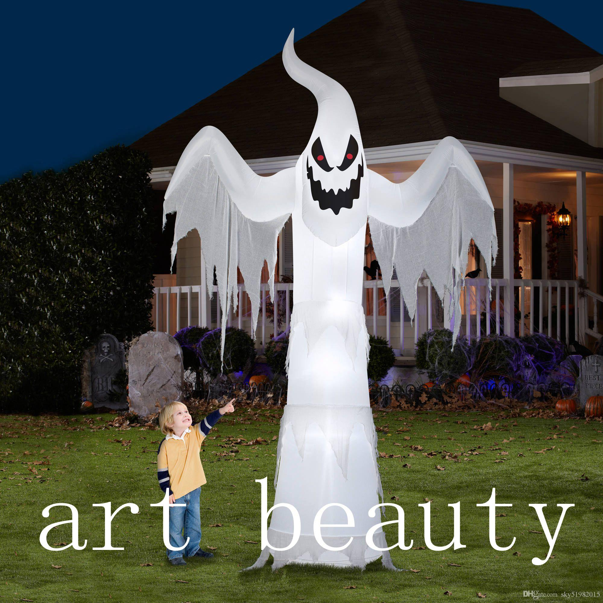 2020 Cheap 12ft Halloween Horrible Inflatable Halloween Yard Decoration Ghost From Sky51982015 311 56 Dhgate Com