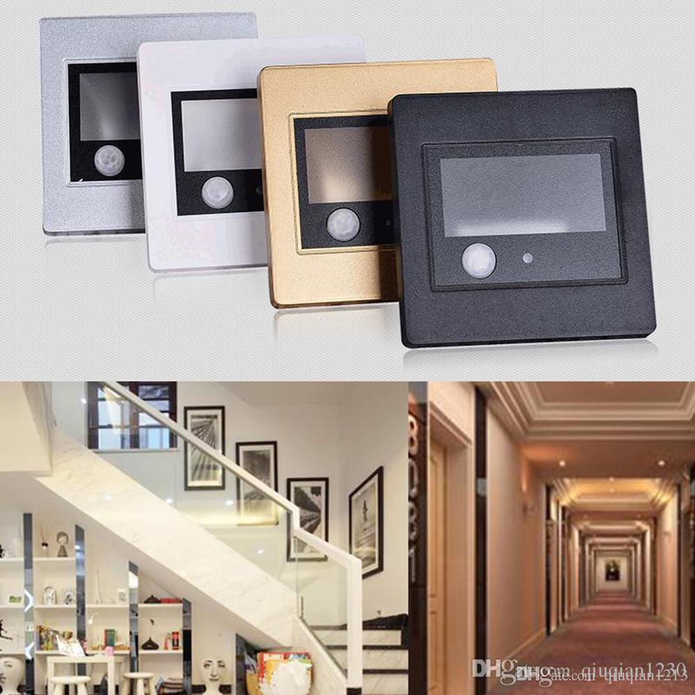 2.5 واط ac85-265v أدى جسم الإنسان ضوء استشعار جدار طوابق راحة الدرج مصباح الممر مصابيح فندق الممر غرفة الرسم أضواء الليل