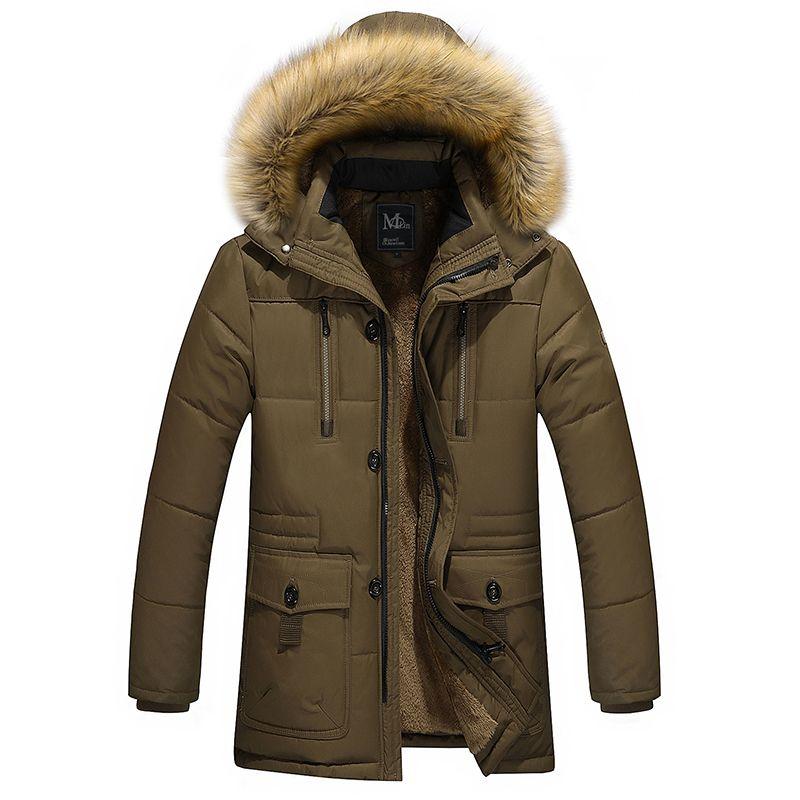 Großhandels- 2016 Herrenbekleidung lange Baumwolle Jacke tautumnwinter warmen Samt Futtermaterial Dad CoatsJackets Verdickung männlich wadded Jacke