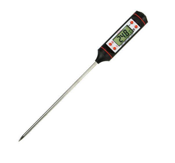 Cozinha medidor de temperatura do óleo de cozinha churrasco temperatura de cozimento necessário termômetro de alimentos eletrônicos líquido caneta temperatura