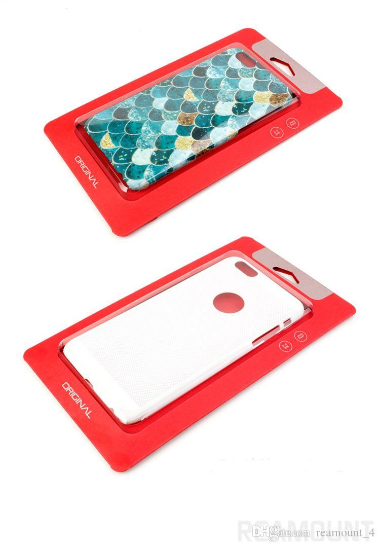 Großhandel Universal Kraftpapier mit individuellem Logo Verpackung mit klaren Planstic Fenster für Samsung S8 S8 Plus Telefon Fall Abdeckung