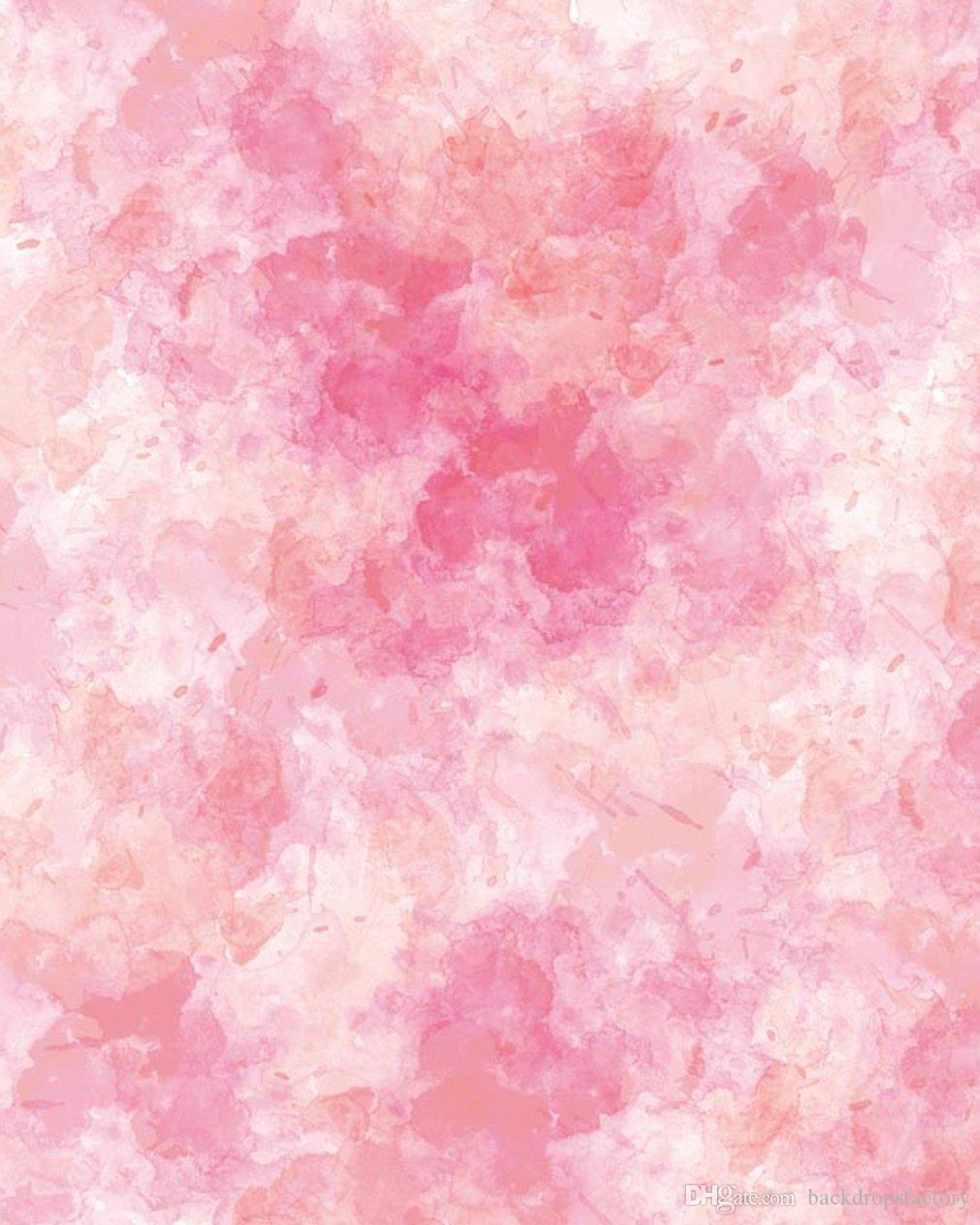 2019 Abstract Pink Watercolor Photo Backgrounds For Studio Printed Blurry Photography Backdrops Baby Newborn Booth Wallpaper Props From