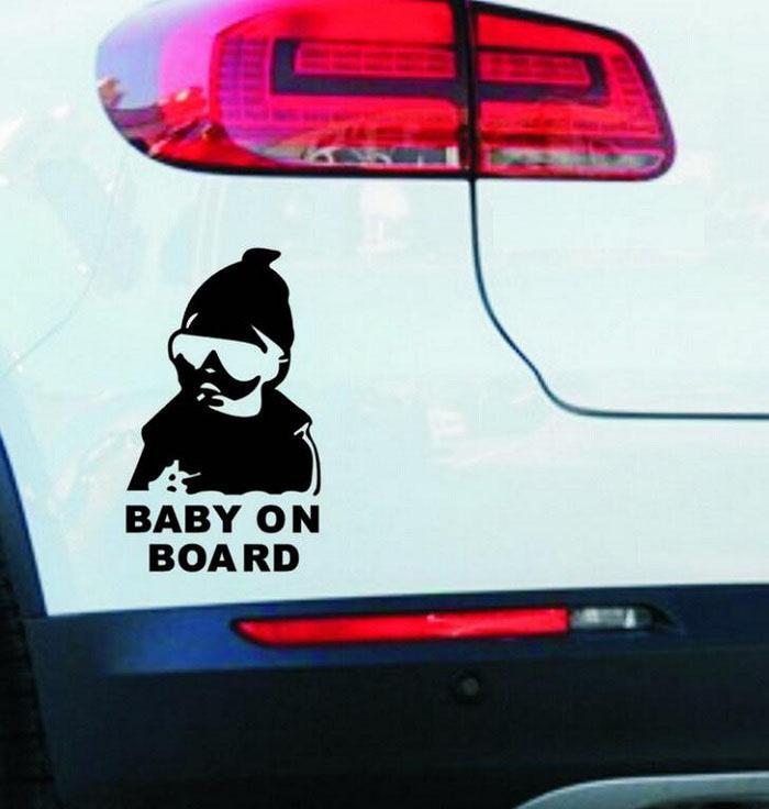 Reflektierende Autoaufkleber Baby an Bord Aufkleber Abdeckung / Anti-Kratzer für Körper Light-Stirn-Front-Hintertür-Stoßfänger-Fenster-Rückspiegel