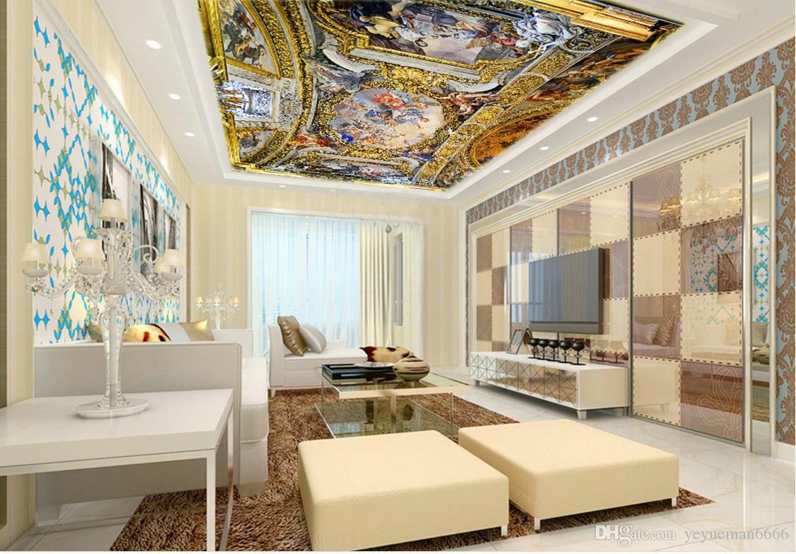 ... Luxus Europäischen Stil 3D Decke Tapete Jesus Wandbilder Für Das  Wohnzimmer Schlafzimmer Decke Vliestapete ...