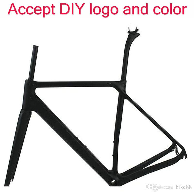 2017 New arrival carbon fiber road bicycle frame T1100 UD black carbon frame tracm china carbon framework free shipping