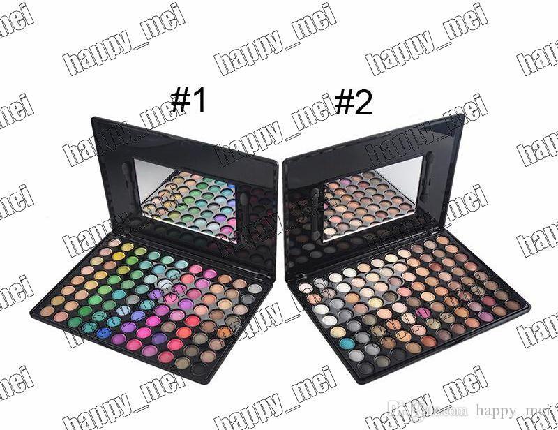 Fábrica directa DHL envío gratis nuevo maquillaje profesional ojos no logo 88 colores Paleta de sombras de ojos! 2 colores