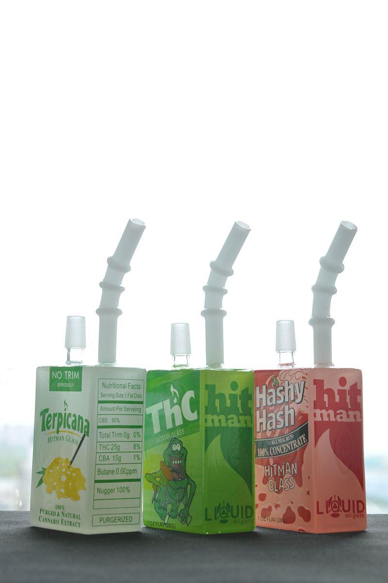 Novo Design Plataformas de vidro Líquido Caixa De Cereal De Vidro óleo Dab Rig 14.4mm com tubo de fumar bong de vidro sem domo