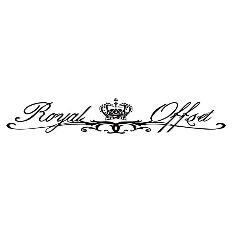 Royal Offset Stance Pare-Brise Pare-Brise Avant En Verre De Voiture Styling Car Jdm Vinyle Decal Stickers Graphiques JDM