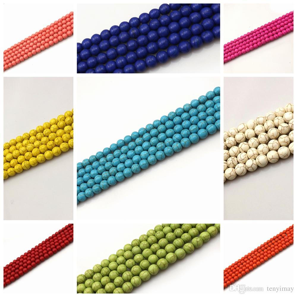 Branelli allentati del turchese di 10mm per DIY 11 colori per la scelta Pacchetto all'ingrosso libero di trasporto di 200pcs