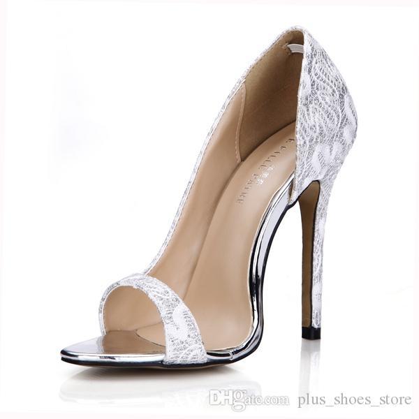 Été Sexy Femmes Sandales Chaussures Chaussures De Mariée Mariage Slip Sur Talons Hauts En stock Chaussures De Soirée Zapatos Mujer Real Image Sandales Chaussures