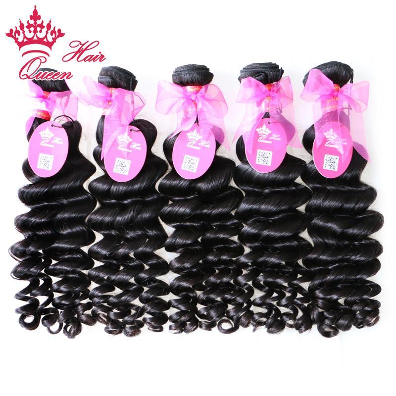 """Queen Hair Products 5 шт./лот больше волна бразильский девственные волосы расширение девственные волосы , DHL Бесплатная доставка 12""""-28"""""""