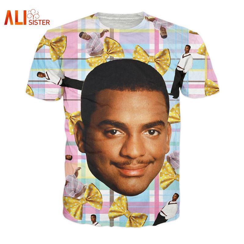 Camiseta Carlton Camisetas con estampado Fresh Prince Camiseta Carlton Banks de los años 90 Camiseta Fresh Prince of Bel-Air Funny Women / men camiseta 3d 17310