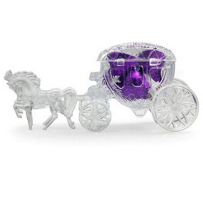 Großhandels-2016 10pcs Pferd Form Cinderella Carriage Wedding Favor Boxen Pralinenschachtel Casamento Hochzeit Gefälligkeiten und Geschenke Dekoration Lieferungen