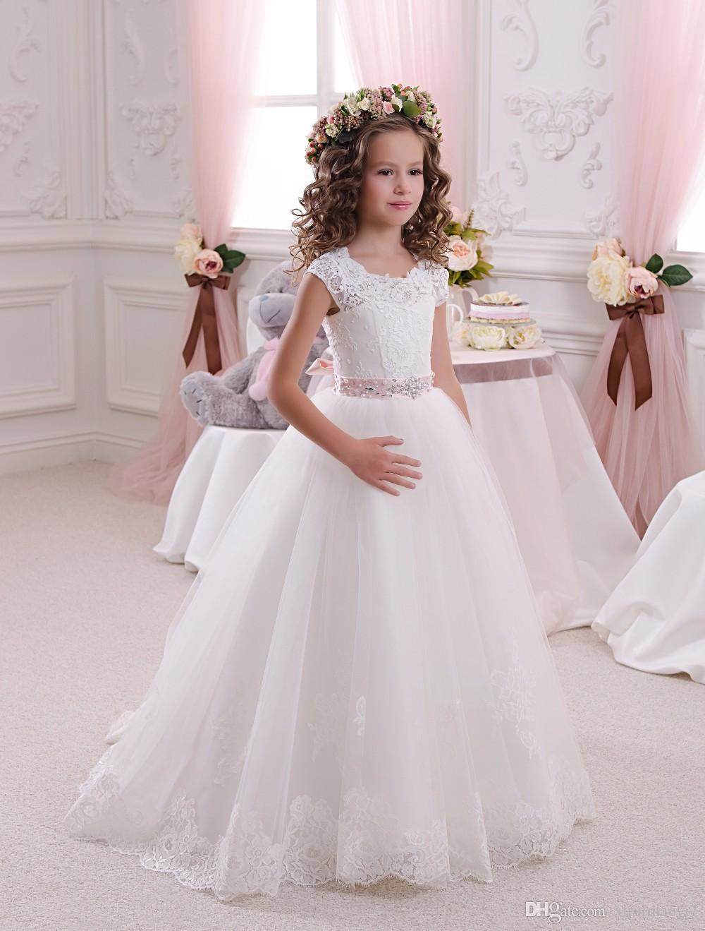 Wedding Flower Girl Dresses Party Pageant Princess Formal Baptismal Communion