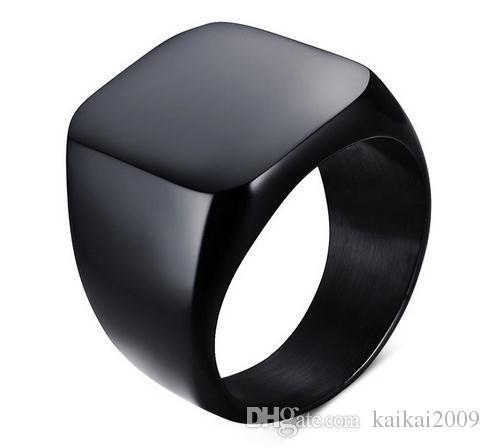Europa und die Vereinigten Staaten Männer einfache Lichtkörper Titan Ring Ring Persönlichkeit Ring