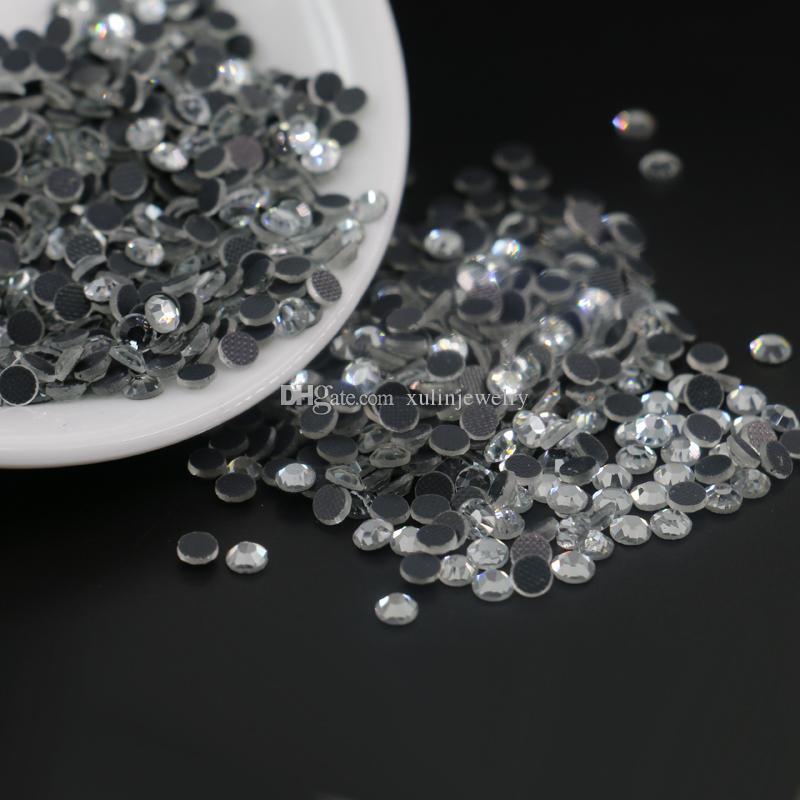 Aquamarine HotFix Diamantes GLASS Rhinestone DMC Quality Flat Back Glue Iron On