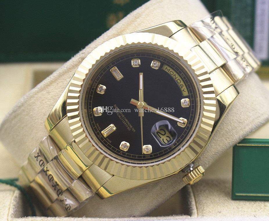 Envío gratis fábrica proveedor de lujo para hombre automática maquinaria reloj 18kt oro para hombre fecha-fecha presidente 18238 deportes de los hombres reloj de pulsera