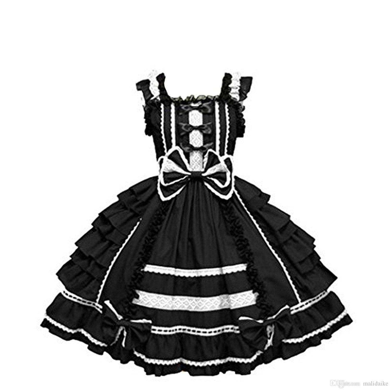 Malidaike Girls Women Dancing Party Cosplay Dress Gothic Lolita Slim Ball Gown Princess Dress