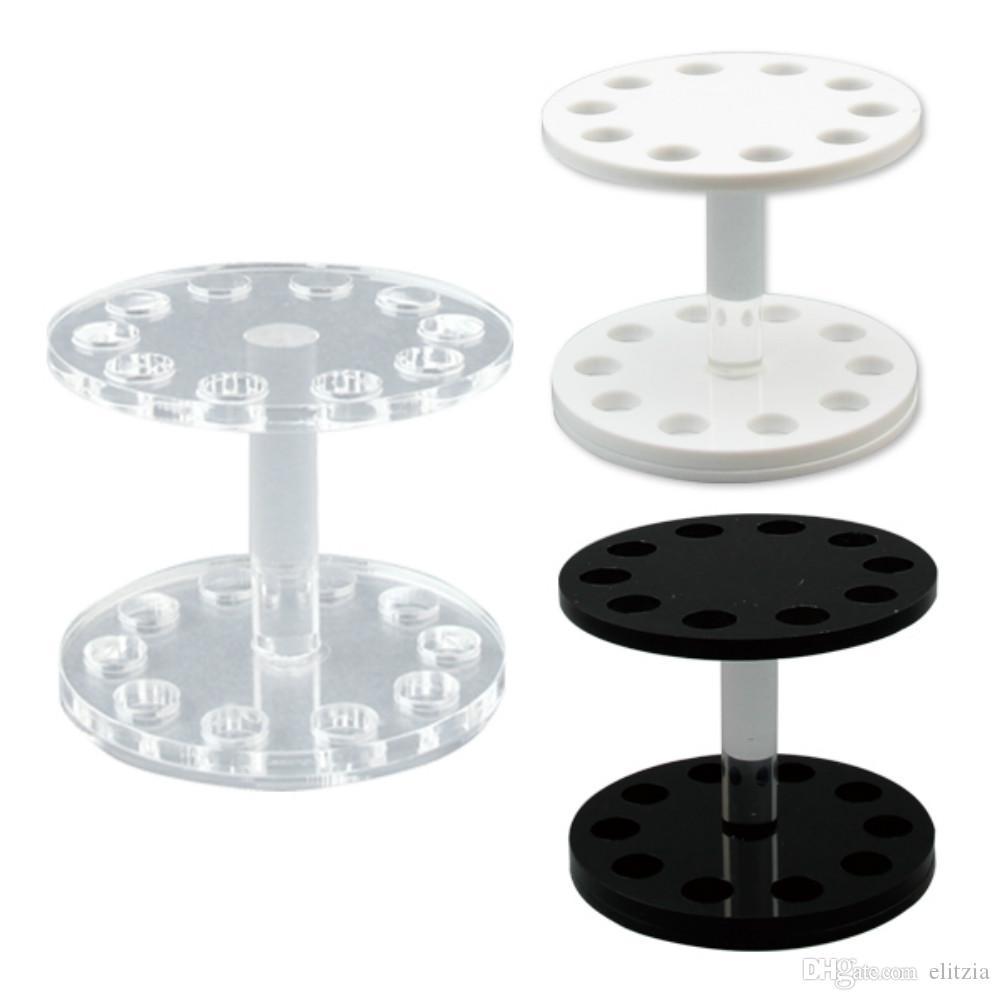 Elitzia ETMT0525R Portapenne per manicure a forma rotonda 3 colori Opzionale Nero, bianco, trasparente