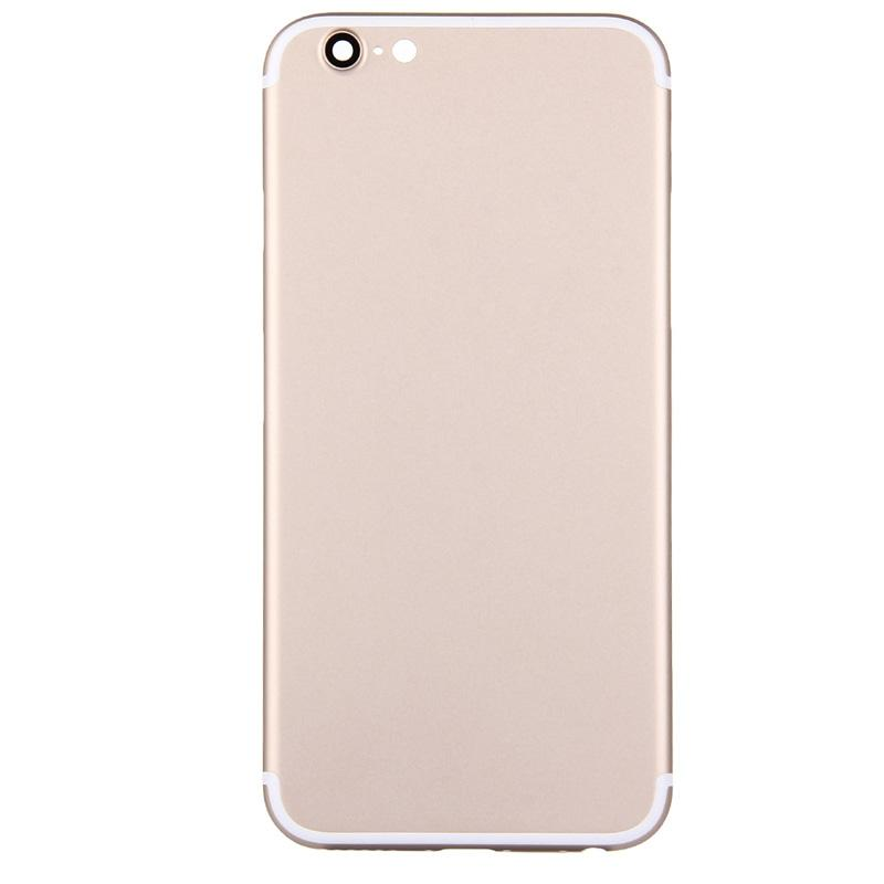 Replcement Cover for iPhone 6 6s like 7 Style Back Housing Bezel Chassis for iphone 6 Rear Battery Housing Gold with Logo