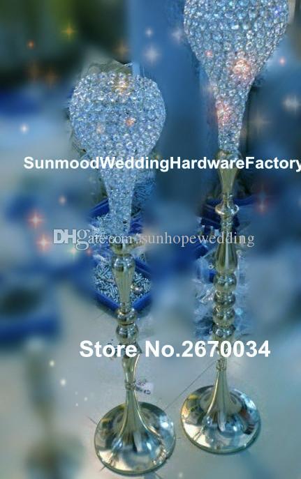 nouvelle arrivée centre de table de mariage en cristal romantique centre de table de mariage pour weddingparty décoration