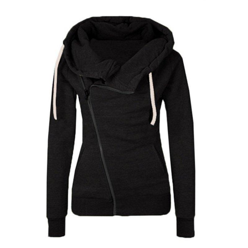 Atacado Moda Mulher Casaco Casual com capuz Suéter Camisola manga comprida