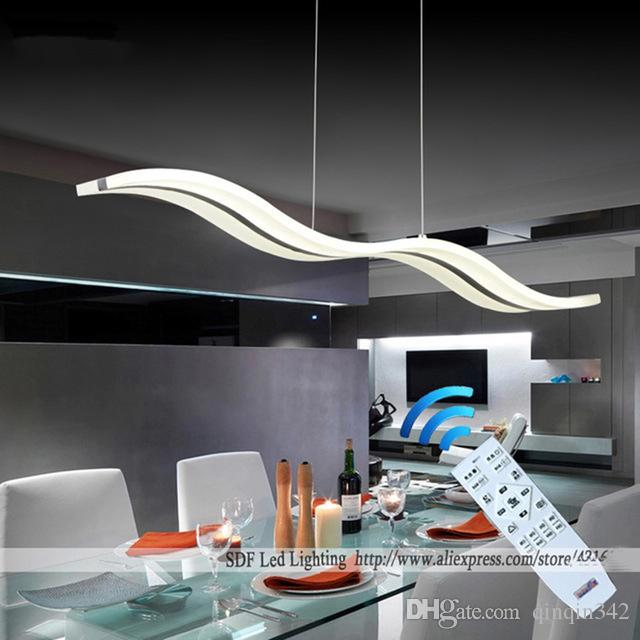 TOP Lampade a sospensione moderne per sala da pranzo soggiorno cucina del ristorante si illumina AC85-260V illuminazione lamparas ciondolo lampade L98CM