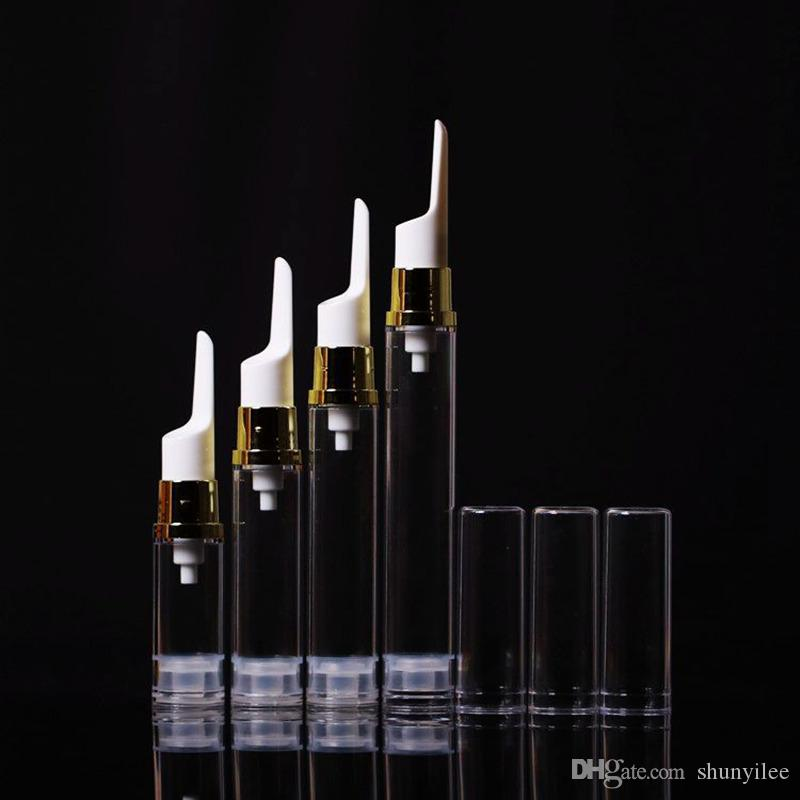 5ml / 10ml / 15ml Flacone per il vuoto trasparente per crema per gli occhi AS Flacone per airless di plastica Flacone per il contorno occhi Crema flacone per il flacone per emulsione di crema F2017675