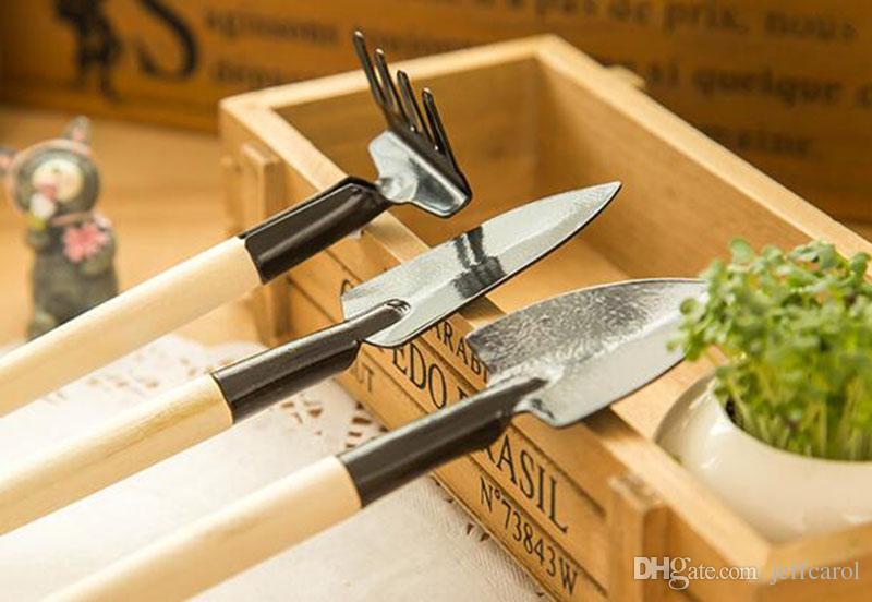 New hot 3 pcs/set! hand tools gardening kit ferramentas bonsai Iron shovel rake shovel ripper garden digging tools