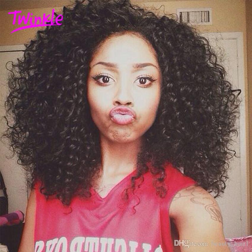 6A Produtos de Cabelo Rosa Mongol Kinky Curly virgem Afro Kinky Curly Hair Tece Extensões de Cabelo Humano Encaracolado Natural Preto