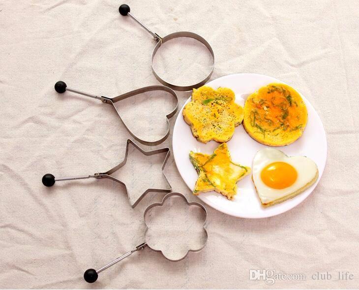 Wholesale Stainless Steel Omelette Device DIY Food Fried Egg Mold Model Love Star Eggs Mould Cake Mould Pancake Breakfast Mold